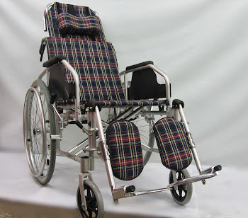 Alunium lightweight reclining wheelchair