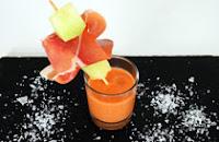 Melonen-Gazpacho mit Serrano Schinken
