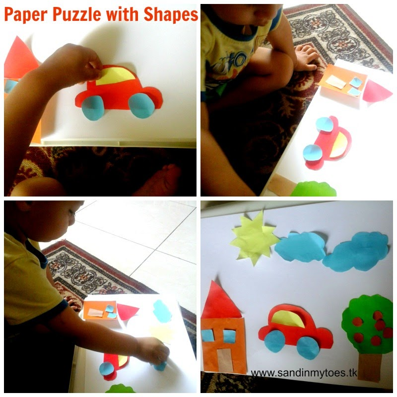 Paper Shapes Puzzle DIY