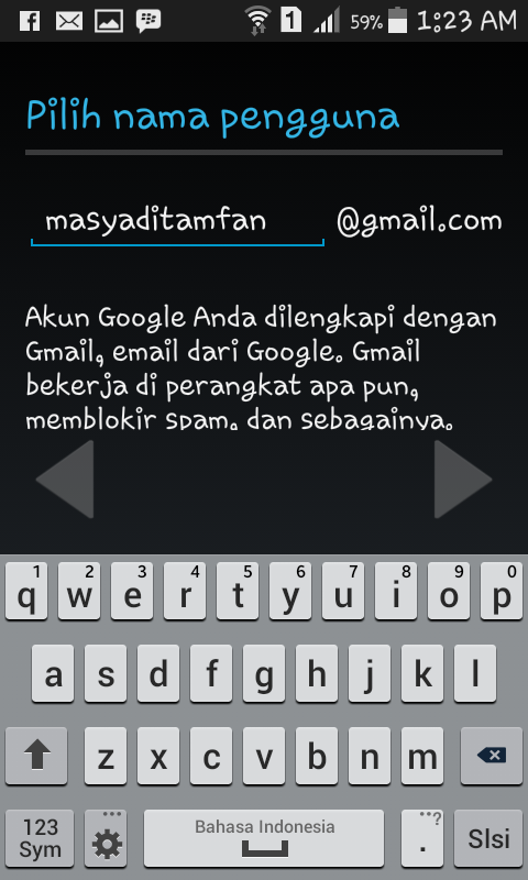 Cara membuat nama alamat gmail di android