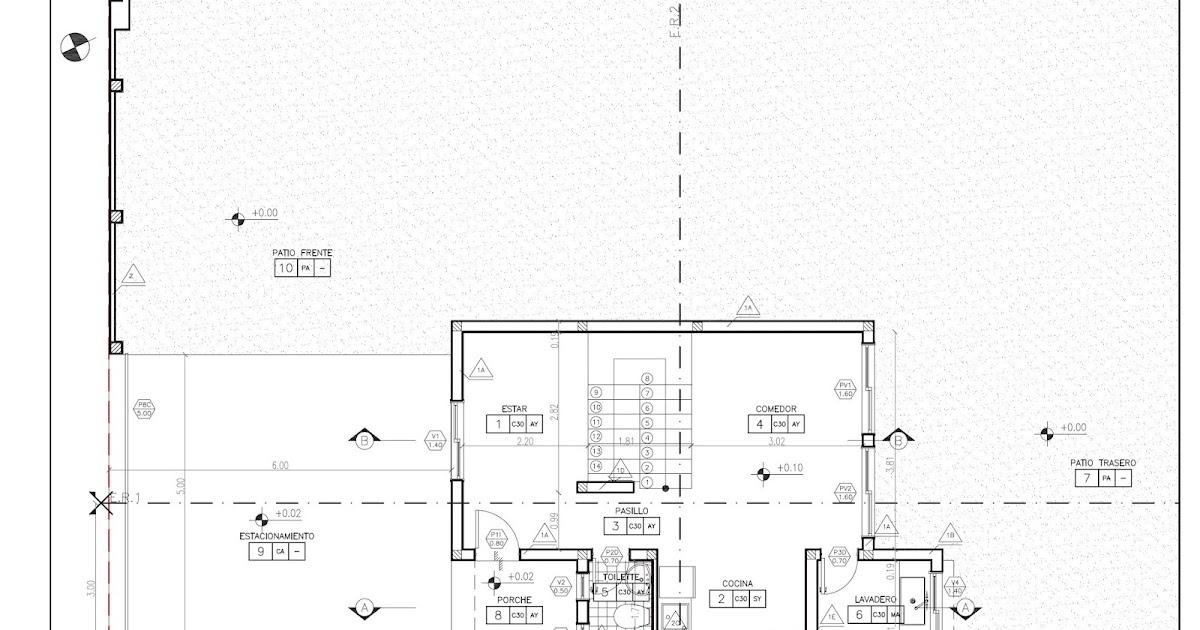Detalles constructivos cad planos de replanteo de for Planos de arquitectura pdf