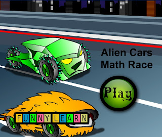 alien cars math race
