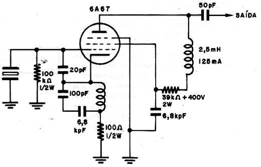 Circuito Oscilador : Circuitos de radio frecuencia valvulares circuito