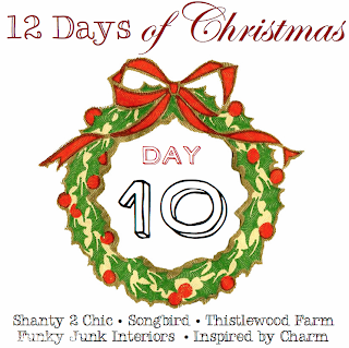 12 Days of Christmas, Day 10 via Funky Junk Interiors