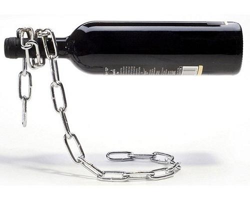 Cadena mágina de hierro para botella de vino
