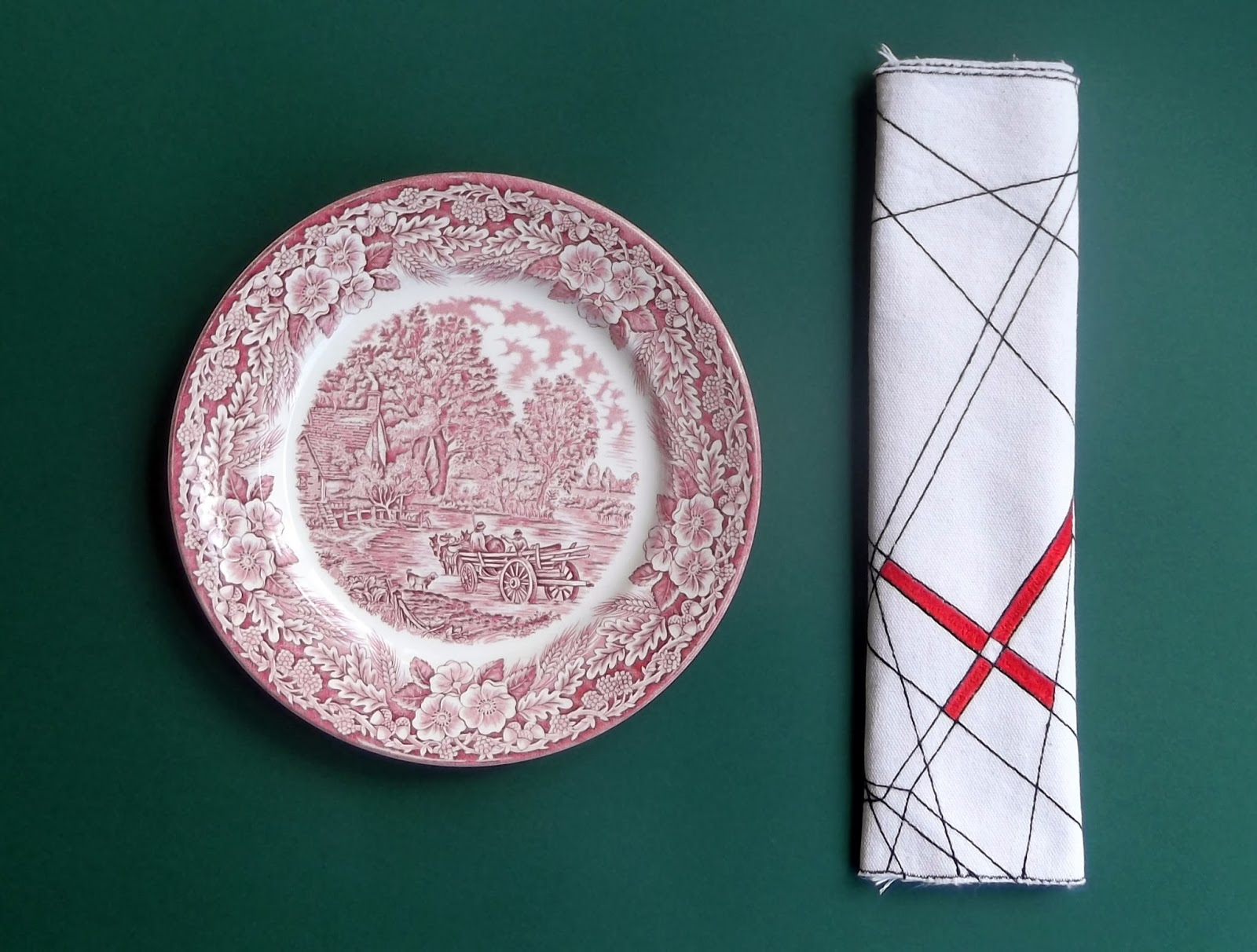 Textile arts now hand embroidered placemats