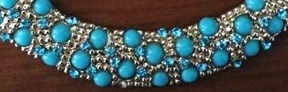 Genevieve Gozum turquoise collar necklace @ Beauty Bunker