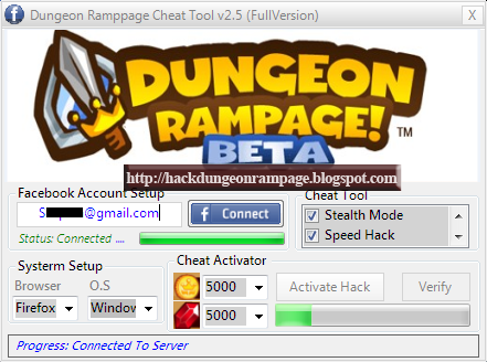 how to hack dungeon rampage