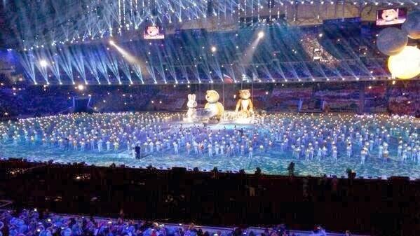 Церемония закрытия Олимпийских игр в Сочи.