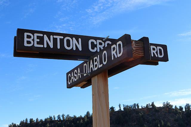 Casa Diablo Road Sign