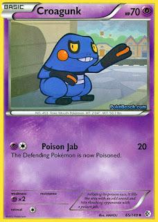 Croagunk Boundaries Crossed Pokemon Card