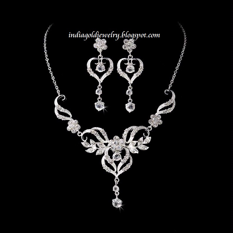 Indian Gold and Diamond Jewellery: Designer White Gold Diamond ...