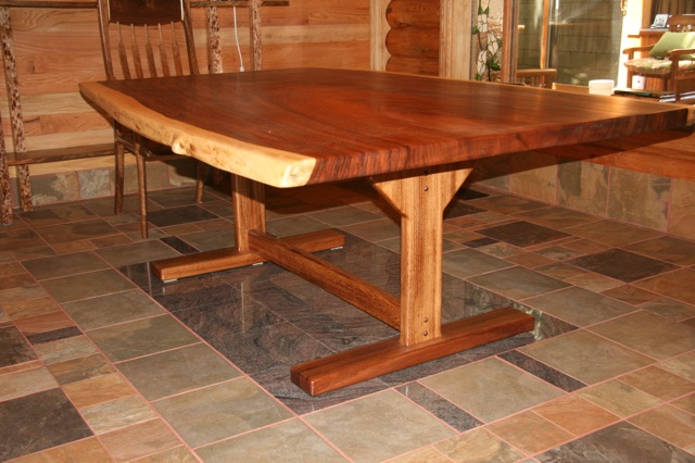 Parota Tables With Tables ~ Tropical exotic hardwoods parota dining table base by