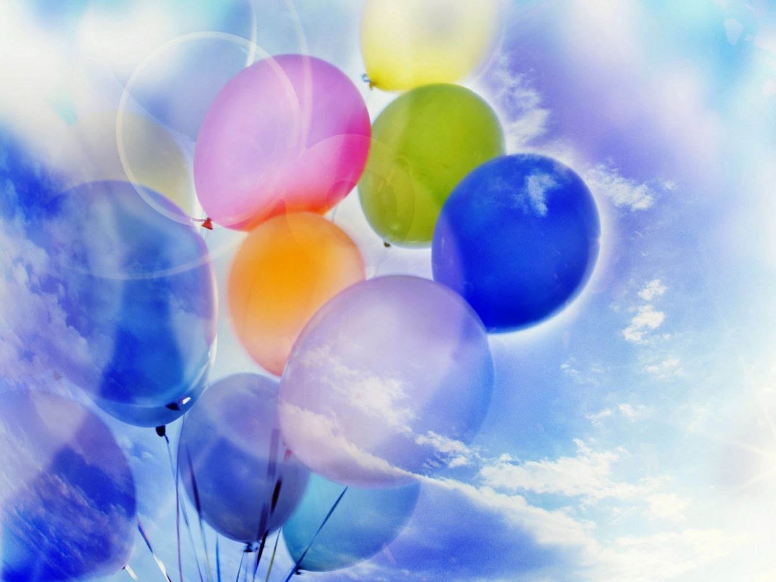 balloons background wallpaper-#3