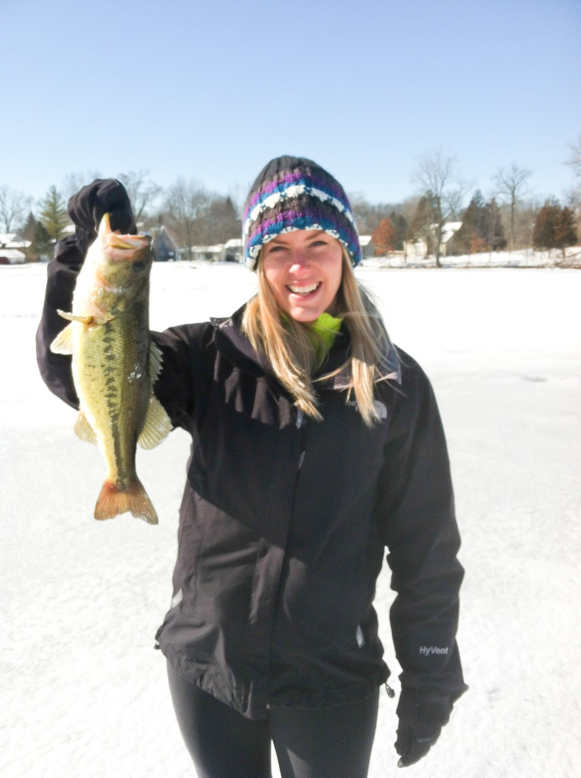 The mitten wife ice fishing weekend adventures for Real life fishing games