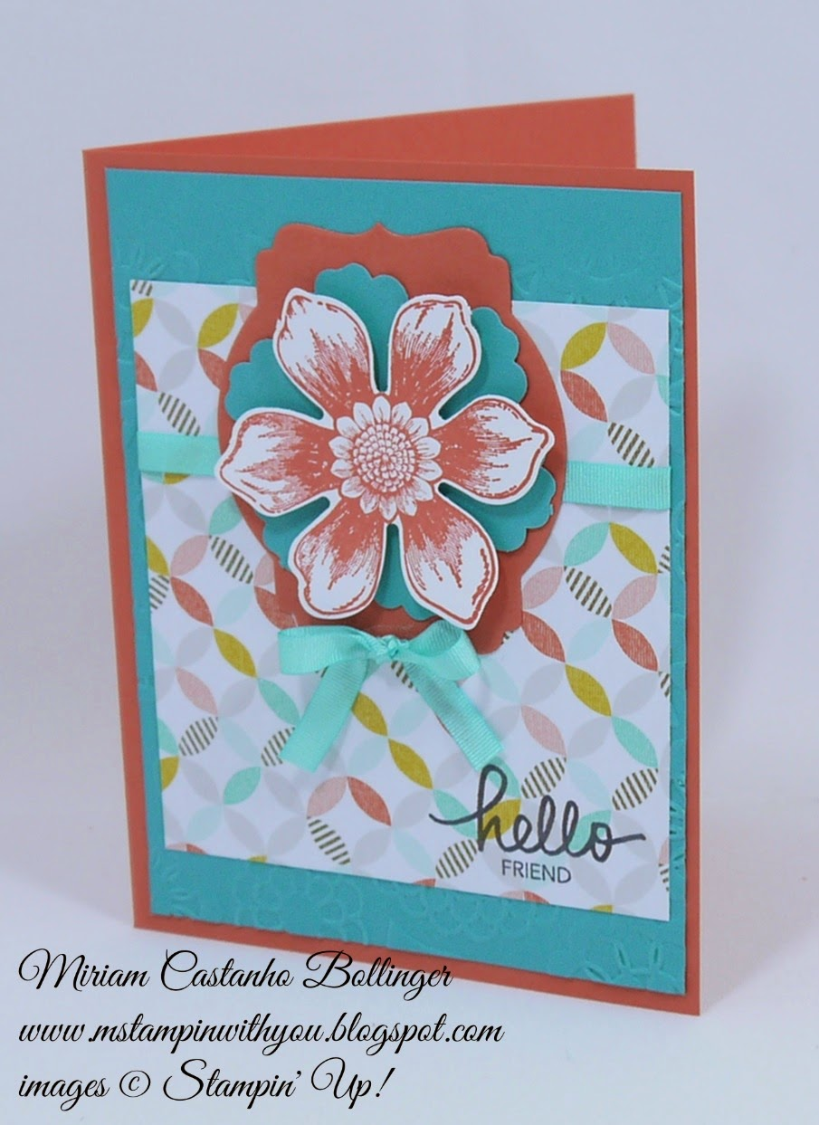 Miriam Castanho Bollinger, #mstampinwithyou, stampin up, demonstrator, mm382, best year ever accessory pack, best year ever dsp, beautiful bunch, fun flower punch, blossom punch, big shot, deco labels collections, all occasions card, su