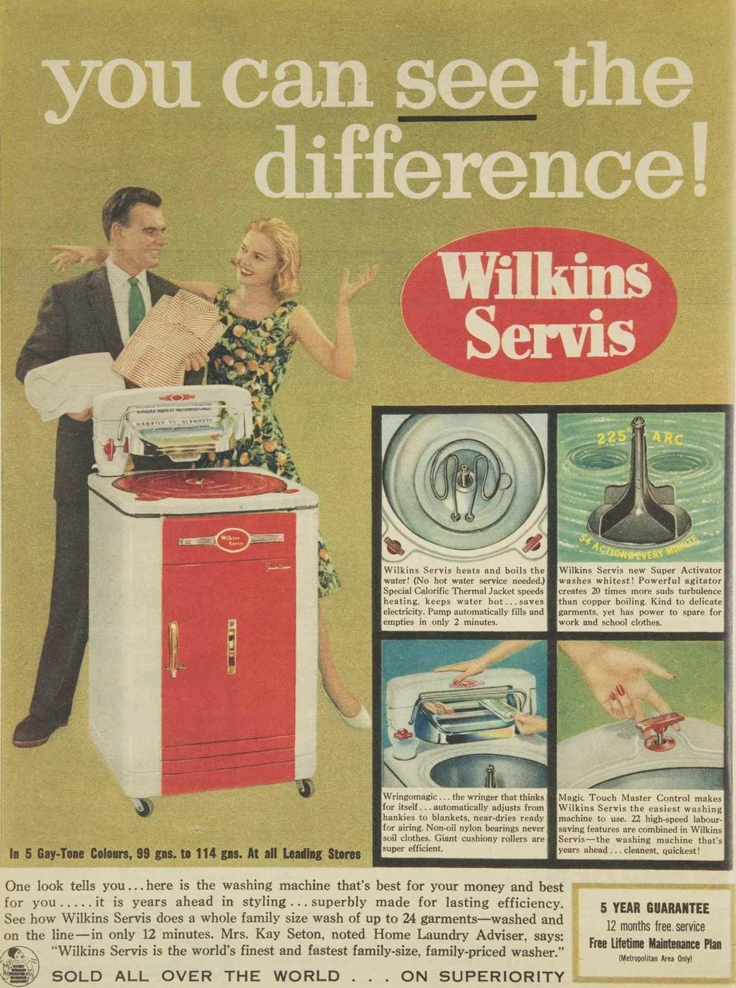 Wilkins Servis, 1959