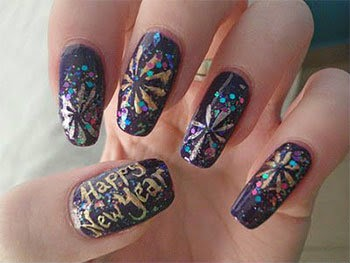 Happy new year Nail art/ Nail poilish ideas for Girls