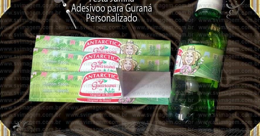 Armario Aberto Banheiro ~ Festa Junina s u00e3o jo u00e3o bandeira adesivo rótulo de refrigerante guaraná com foto