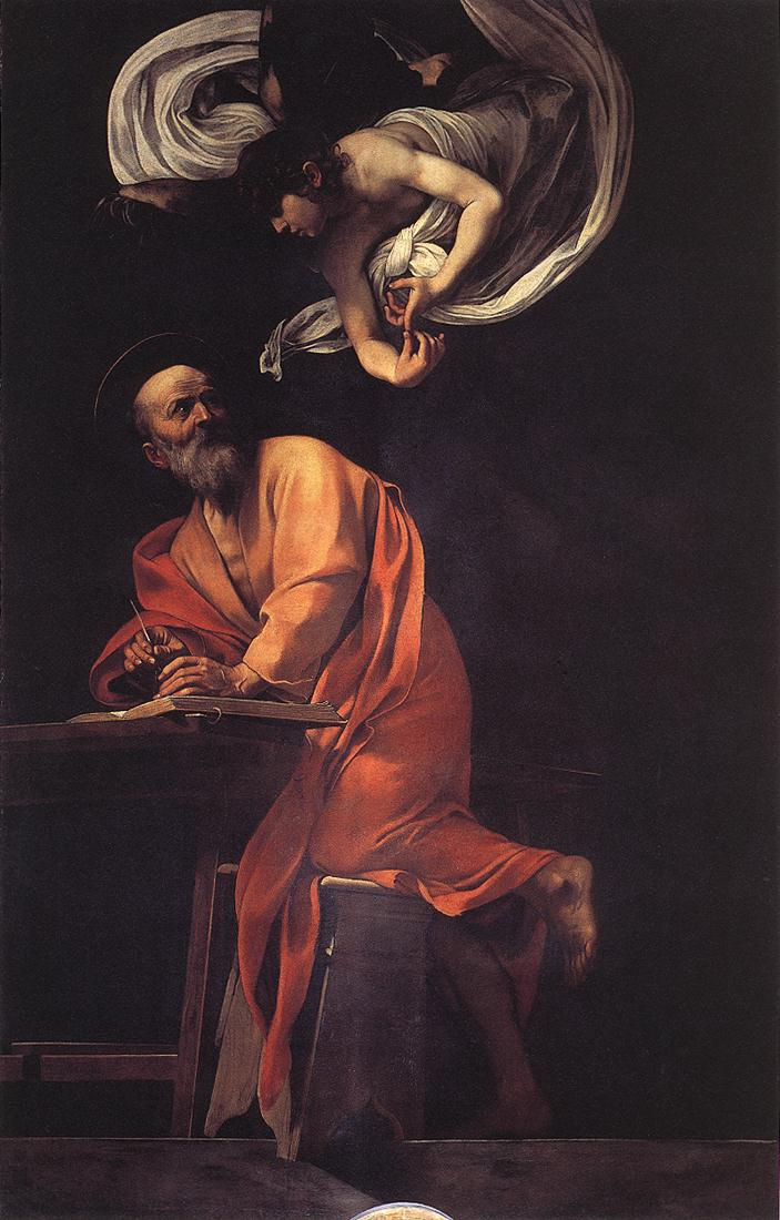 caravage saint matthew painting