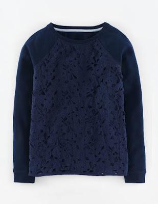 Boden Pretty Lace Sweatshirt