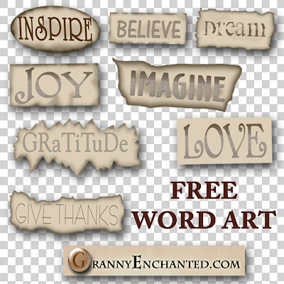 Free Positive2 Digi Word Art Elements