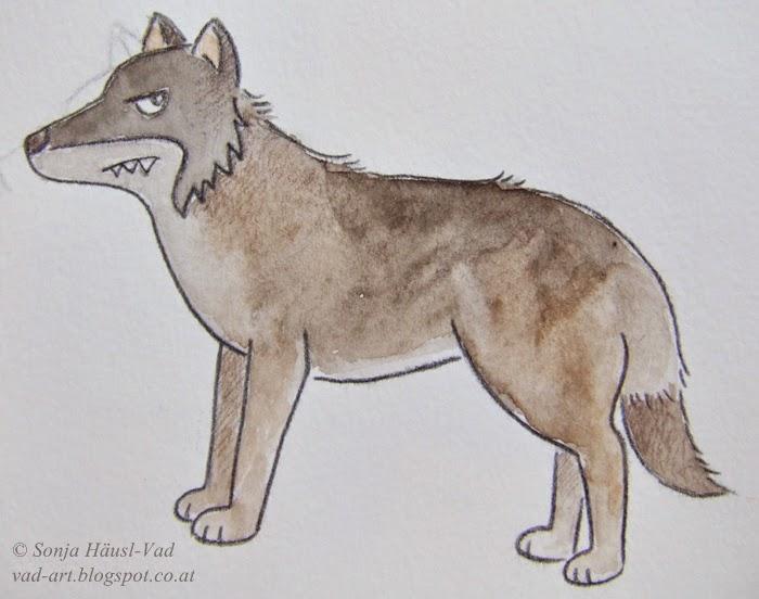 vlk, ilustrace