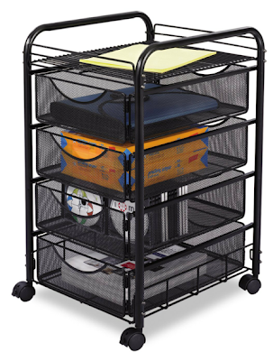 mesh cart with four drawers