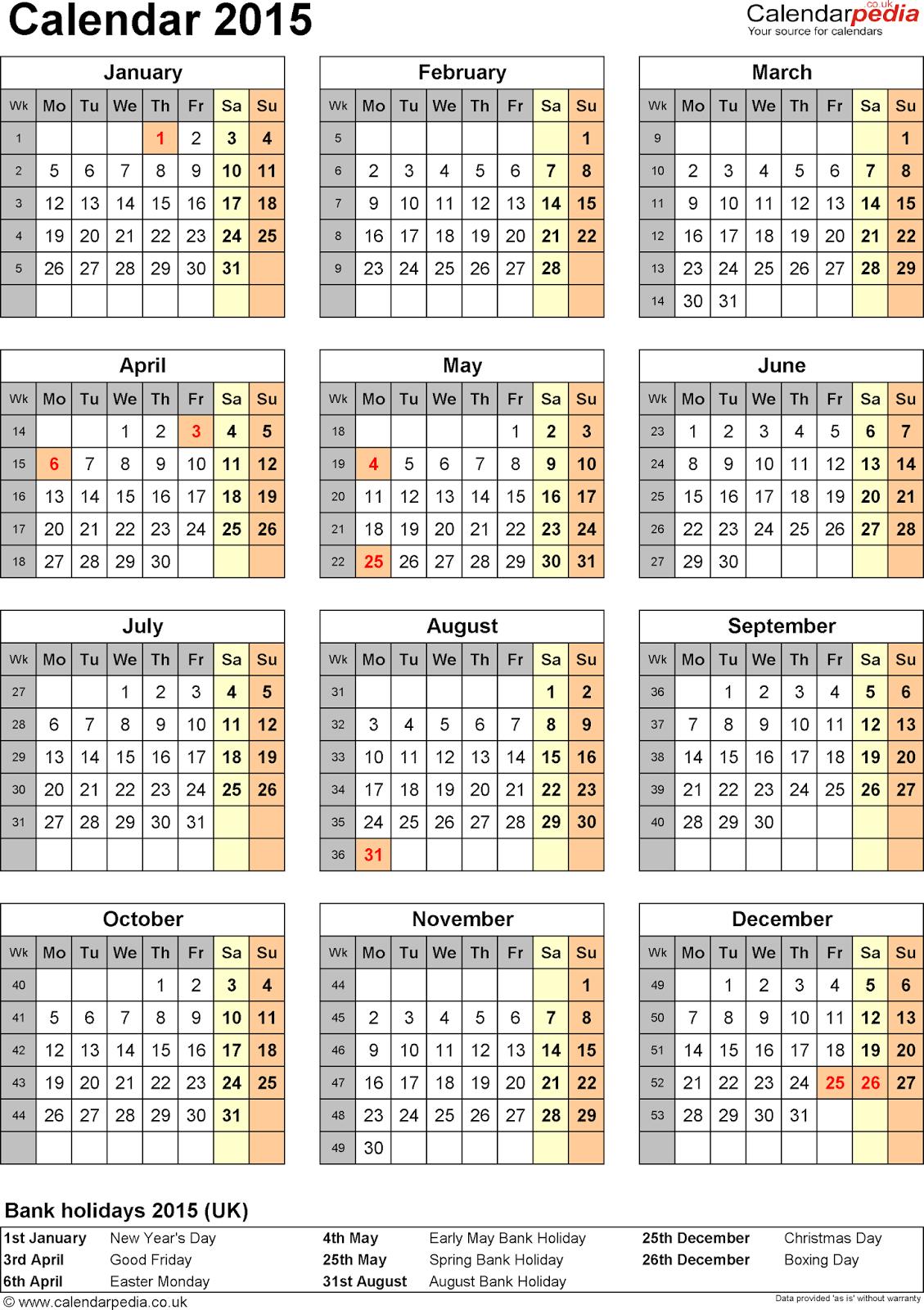 New Calendar 2015