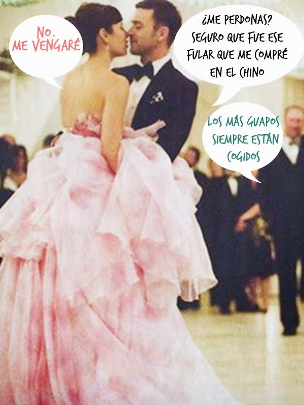 vestidos de novia boda Jessica Biel Justin Timberlake hermanas bolena
