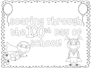 it is a superhero coloring page that im going to have my students do as morning work on the 100th day of school - 100th Day Of School Coloring Pages