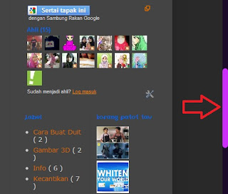 Cara Tukar Scroll Bar Blog