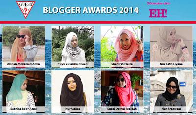 8 blogger cun malaysia dalam EH! Guess Blogger Awards 2014