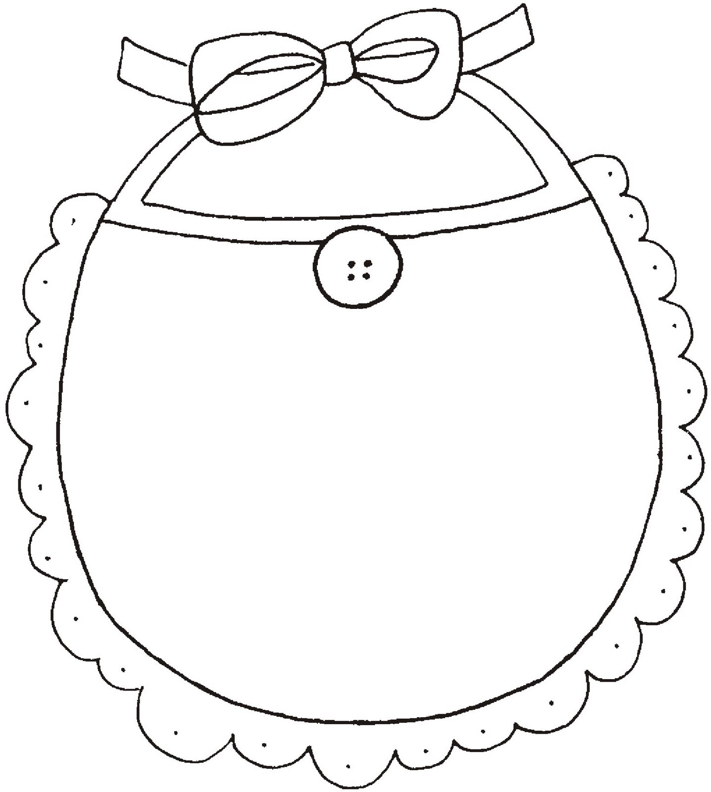 bib baby shower coloring pages sketch coloring page