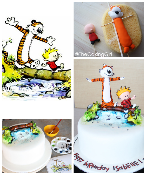 Calvin and Hobbes Cake