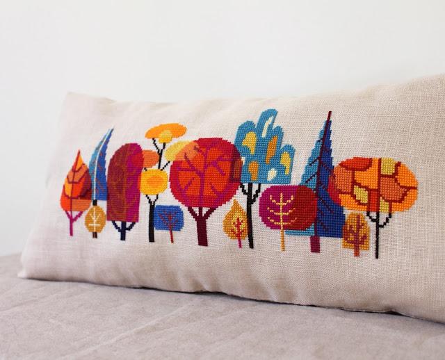 satsuma_street_forest_trees_autumn_cross_stitch_pattern_embroidery xstitch foliage fall
