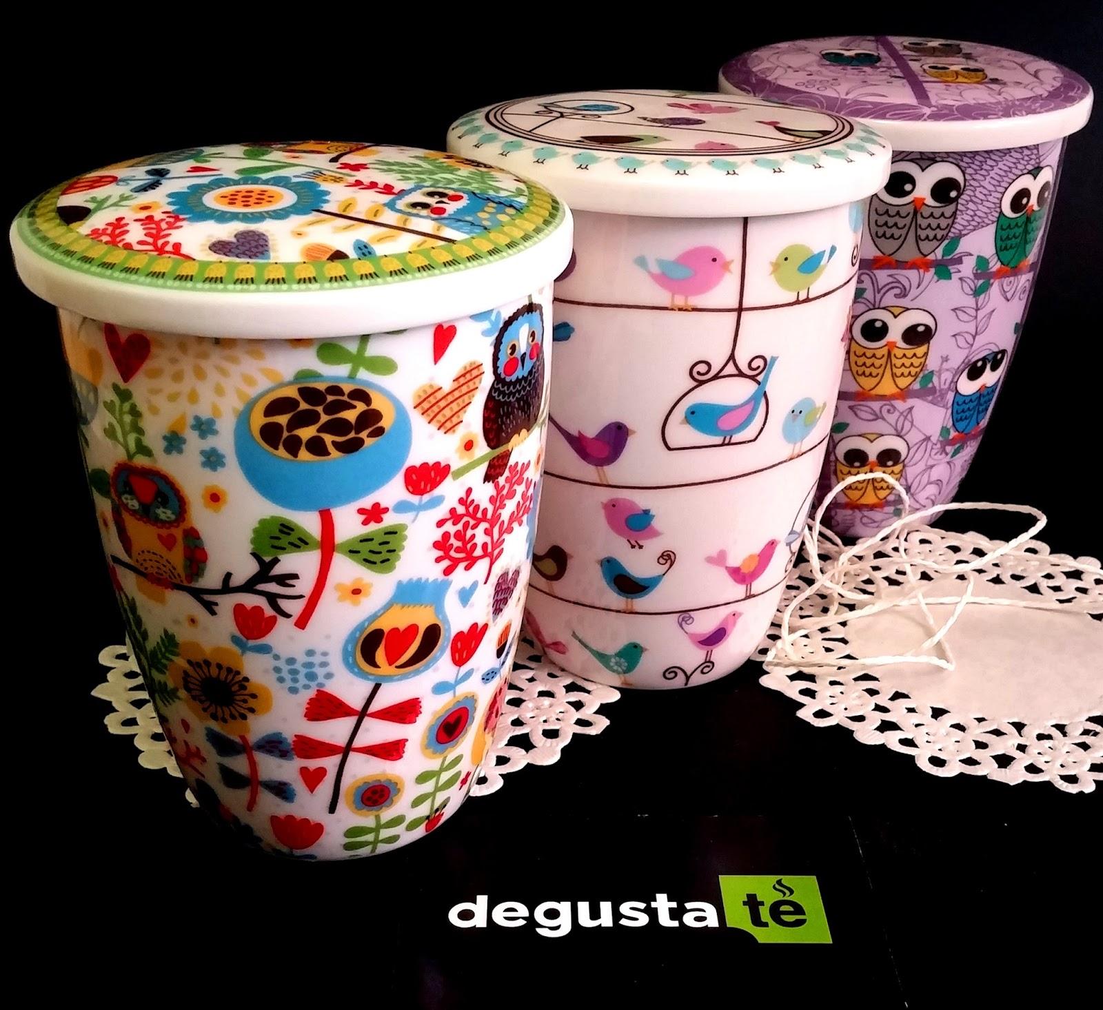 Club degustat tazas para t originales con filtro for Tazas de te con tapa