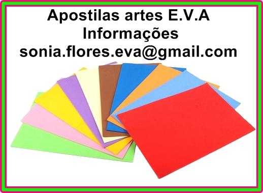 Apostilas artes E.V.A - Passo a passo e moldes