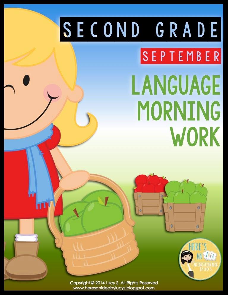 2nd grade SEPTEMBER language morning work