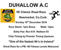 Newmarket 5k road race...Sun 18th Dec 2016