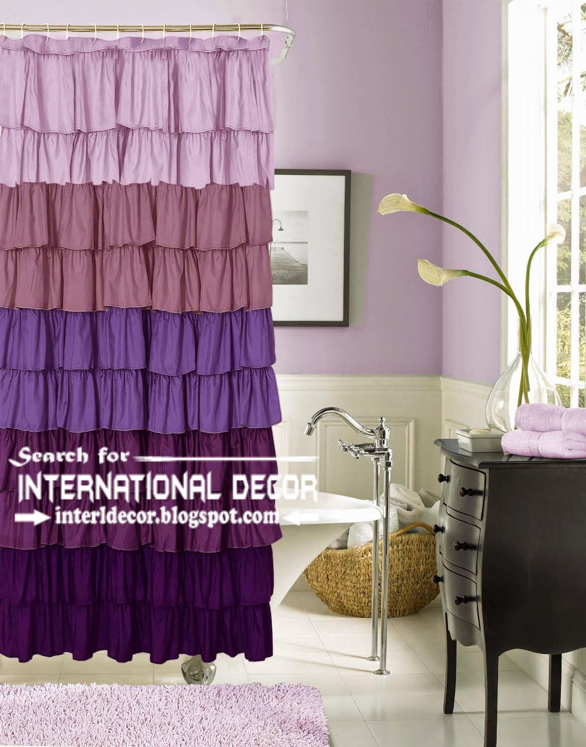 largest catalog of purple curtains and drapes, purple curtain tones, ruffle purple shower curtain