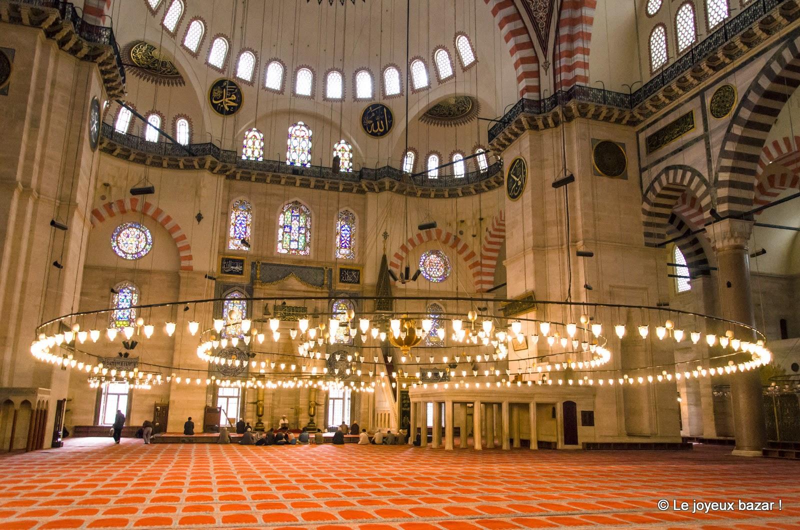 Istanbul - Mosquée de Soliman le Magnifique - intérieur