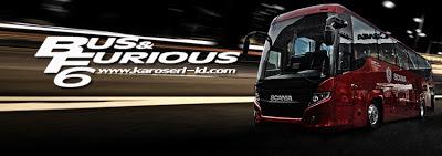 Bus & Furious 6 - Karoseri Indonesia