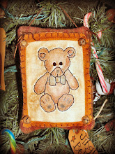 WOOL TEDDY BEAR PILLOW HANGING ORNIE