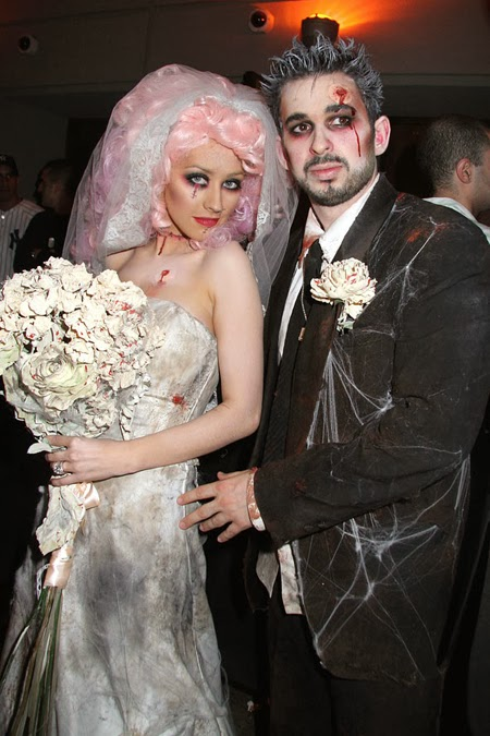 Кристина Агилера и Джордан Братман костюми за Хелоуин