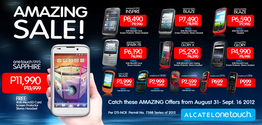 alcatel amazing sale android august 31 september 16 philippines