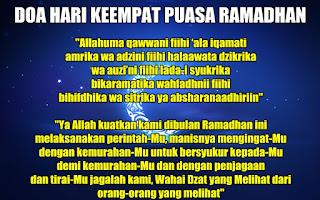 Doa Hari Ke-4 (Keempat) Puasa Ramadhan 1436 Hijriah