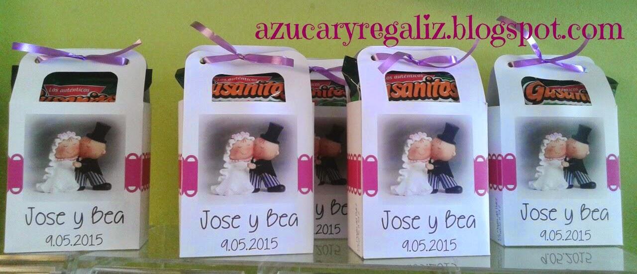 Cajitas dulces para bodas azucaryregaliz