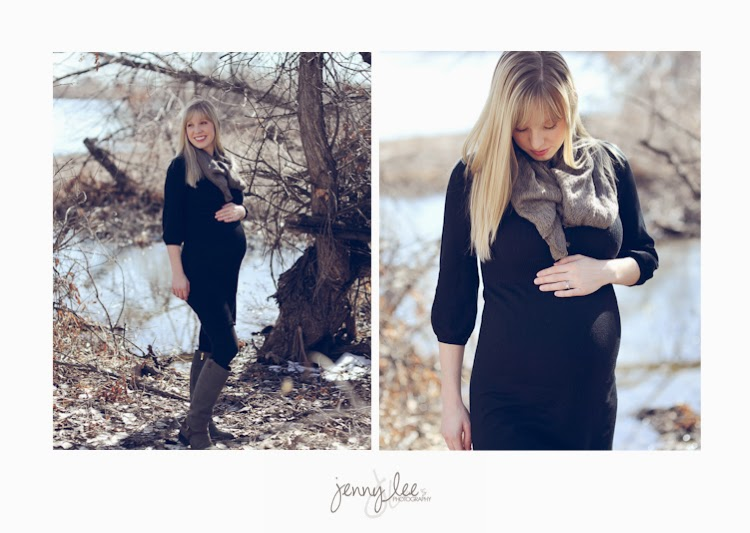 An outdoor Wyoming maternity session