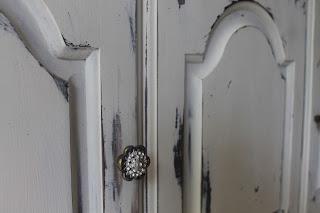 tattered elegance chalk paint china cabinet. Black Bedroom Furniture Sets. Home Design Ideas